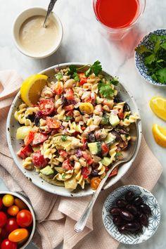 30-Minute Creamy Tahini Pasta Salad (Vegan & Gluten-Free!)