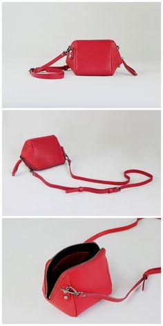 Handmade Full Grain Leather Cross Body Bag Small Shell Bag