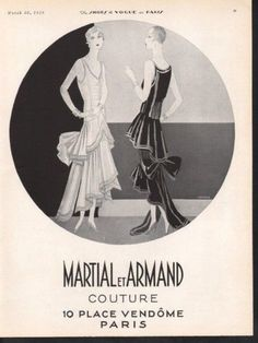 H-1929 MARTIAL ARMAND DRESS FASHION DORLAND STYLE COUTURE