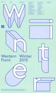 Western Front Winter 2015 on Behance