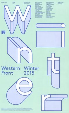 Western Front Winter 2015 on Behance