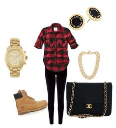 """""""Untitled #4"""" by chiyka ❤ liked on Polyvore featuring Timberland, Monsoon, Abercrombie & Fitch, Michael Kors, Marc by Marc Jacobs and Chanel"""