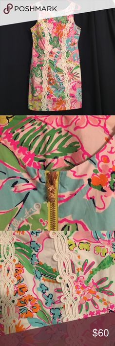 Lilly Pulitzer Nosie Posey Shift Dress Beautiful Lilly, rare and a collectors item in the Nosie Posey print. It's short, form fitting, and flattering. Perfect condition, no stains. Lilly Pulitzer Dresses Mini