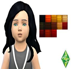 Sims 4 CC's - The Best: KiaraZurk Toddler long curls random recolored by A...