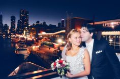 Veronika & Victor celebrate their wedding on Mystic Blue Cruises