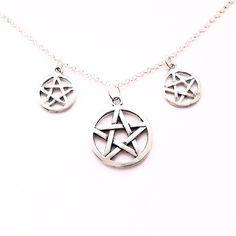 Triple Pentagram Choker