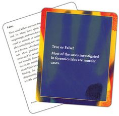$10.95 Forensics Knowledge Cards