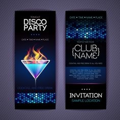 Get your guests excited to dance with this holiday dance party invitationDisco party invitation cards creative vector Free vector in Holiday Party Invitations, Unique Invitations, Invitation Cards, Birthday Invitations, Invites, Disco Party, Xmas Party, Holiday Parties, Christmas Cocktails
