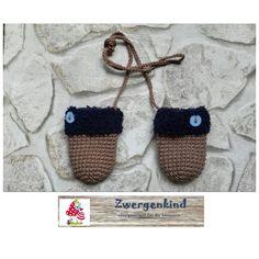 Handschuhe - Baby Fäustlinge - ein Designerstück von zwergenkind17 bei DaWanda