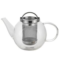 BonJour Coffee and Tea Handblown Borosilicate Glass Teapot, 27-Ounces, Harmony >>> Check this awesome product by going to the link at the image.