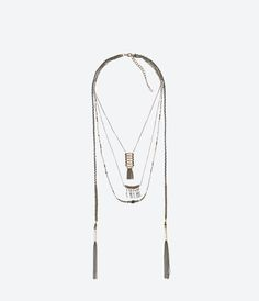 ZARA - NEW THIS WEEK - FRINGED CHAIN NECKLACE 25.99 GBP