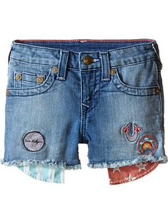 53647526e8 True Religion Kids Patched Casey Single End Shorts (Toddler/Little Kids)  True Religion
