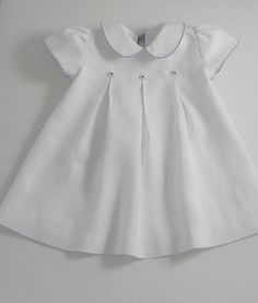 White linen yacht dress