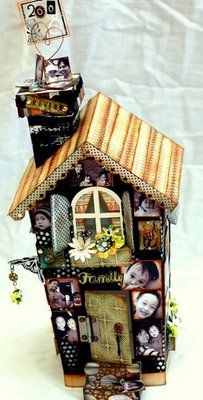 chipboard house scrapbook project - for Halloween?