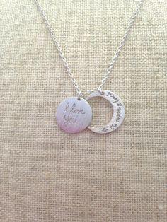 I Love you to the moon and back necklace by leeleeaccessories, $25.00