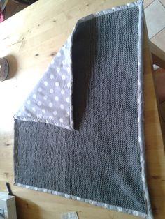 couverture b b tricot avec laine rapido phildar et doubl avec tissus petit pan cousu main. Black Bedroom Furniture Sets. Home Design Ideas