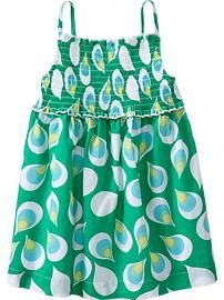 Smocked Printed Sundresses for Baby