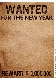 Carte Wanted for the new year pour envoyer par La Poste, sur Merci-Facteur !