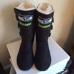 Seattle seahawks womens boots  by Sportzfanatics on Etsy https://www.etsy.com/listing/215658822/seattle-seahawks-womens-boots