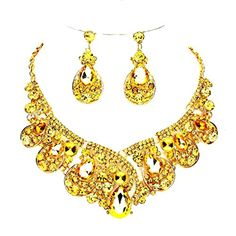 Topaz Rhinestone Crystal Statement Gold Chain Necklace Chandelier Earrings Set Affordable Wedding Jewelry Affordable Wedding Jewelry http://www.amazon.com/dp/B018WFM8FE/ref=cm_sw_r_pi_dp_s4XBwb18NAKJV
