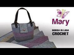 TUTORIAL: Borsa punto ventaglio/ crochet bag***lafatatuttofare**** - YouTube