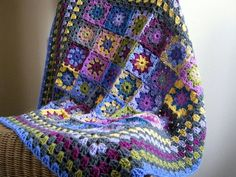 Heather Crochet Blanket Kaleidoscope of Granny by Thesunroomuk