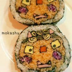節分。飾り巻き寿司