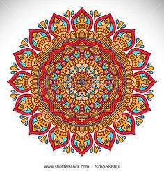 Ornament beautiful card with mandala Mandala Doodle, Mandala Art Lesson, Mandala Drawing, Mandalas Painting, Mandala Artwork, Arte Mandela, Mandala Indio, Ornament Pattern, Indian Mandala