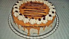 τούρτα καραμέλα Tiramisu, Birthday Cake, Ice Cream, Sweets, Candy, Chocolate, Cooking, Ethnic Recipes, Desserts
