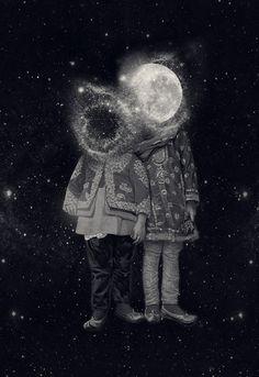 Pilar Zeta  moon & earth are faces of children our future