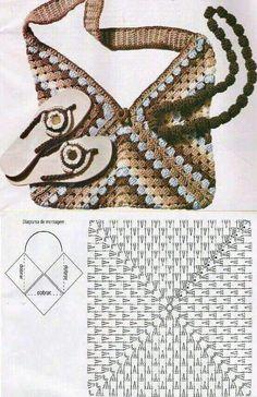 Transcendent Crochet a Solid Granny Square Ideas. Inconceivable Crochet a Solid Granny Square Ideas. Free Crochet Bag, Crochet Shell Stitch, Crochet Tote, Crochet Handbags, Crochet Purses, Diy Crochet, Crochet Stitches, Purse Patterns, Knitting Patterns
