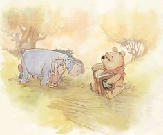 Water colour paint Winnie The Pooh Classic, Cute Winnie The Pooh, Winnie The Pooh Quotes, Winnie The Pooh Friends, Eeyore, Tigger, Baby Disney, Disney Art, Winnie The Pooh Pictures