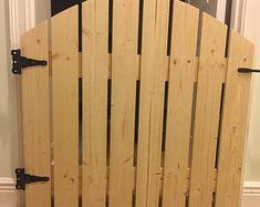Rustic Barn Door Style Baby/ Pet gate w/special Fairy Door or Cat Door