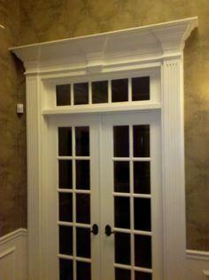 foyer  Love the door moldings
