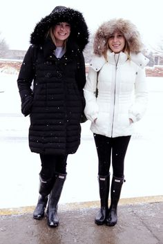 Hunter wellies for snowy days