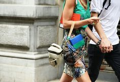 Check out those beautiful printed skirt - tommy ton's style.com