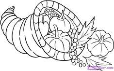 Cornucopia How To Draw A Cornucopia Step By Step Thanksgiving , wie zeichnet man ein füllhorn step by step thanksgiving , , thanksgiving art Videos. Fall Drawings, Easy Drawings For Kids, Drawing For Kids, Pencil Drawings, Drawing Ideas, Drawing Guide, Sketch Ideas, Drawing Tutorials, Thanksgiving Drawings