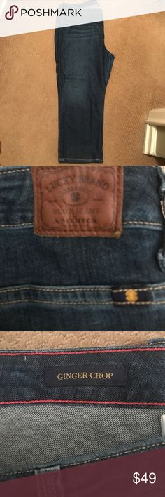 Lucky brand ginger crop jeans Worn once. Mint condition. Ginger crop jeans. Lucky brand. Lucky Brand Jeans Ankle & Cropped