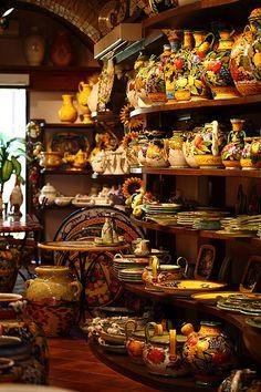 Tuscany pottery - #Tuscan #Home #Design - Find More Decor Ideas at:  http://www.IrvineHomeBlog.com/HomeDecor/  ༺༺  ℭƘ ༻༻   and Pinterest Boards    - Christina Khandan - Irvine, California