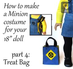 """How to make a Halloween Treat Bag for 18"""" dolls 