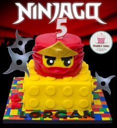 Lego ninjago red ninja birthday cake