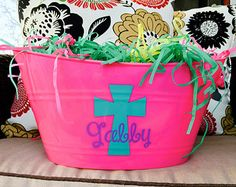 Personalized Easter Basket Easter Bucket Easter Pail Easter Bunny Free Shipping in USA