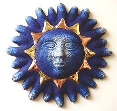 Ceramic blue sun