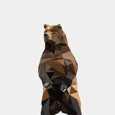 Thought I would go back to doing some geometric things, and I ended up doing a bear. I think I may make a series of these geometric animals, and see what the outcome is. I also have this for sale on Society6, which you can buy it on many things, feel free…