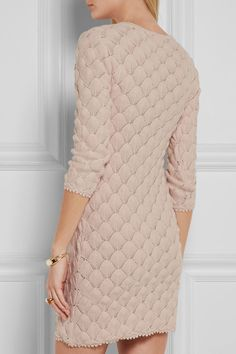 Pink See By Chloé Crocheted Cotton Mini Dress2