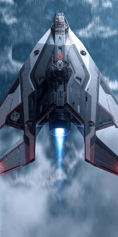 Fighter design from the video game, Star Citizen. Space Ship Concept Art, Concept Ships, Weapon Concept Art, Spaceship Art, Spaceship Design, Futuristic Art, Futuristic Technology, Star Citizen, Starship Concept