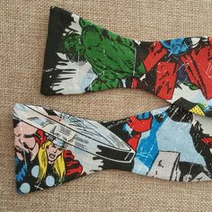 The Avengers bow tie! Are you a comic fan?