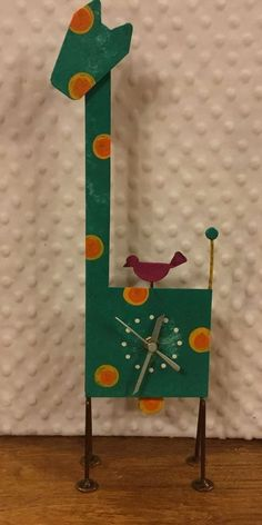 OXIDOS WHIMSICAL GIRAFFE WITH BIRDIE PENDULUM TABLE CLOCK - LIMITED EDITION #Handmade