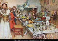 Christmas Evening  by Carl Larsson  http://www.wikigallery.org/paintings/248001-248500/248403/painting1.jpg