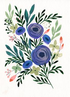Vote for my watercolor if you'd like to see prints available on Minted© | Persian Ranunculus by Natalie Malan